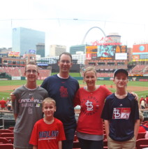Taking in a Cardinals Game
